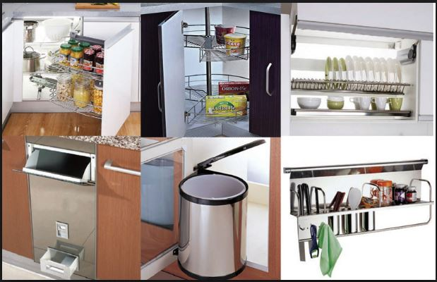 bộ phụ kiện tủ bếp cao cấp