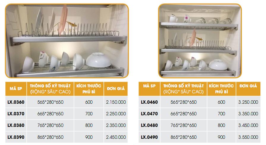 giá bát cố định loại đẹp dành cho tủ bếp trên