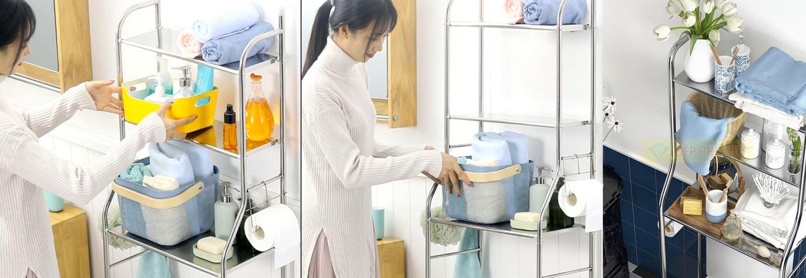 kệ để đồ trên máy giặt tiện dụng