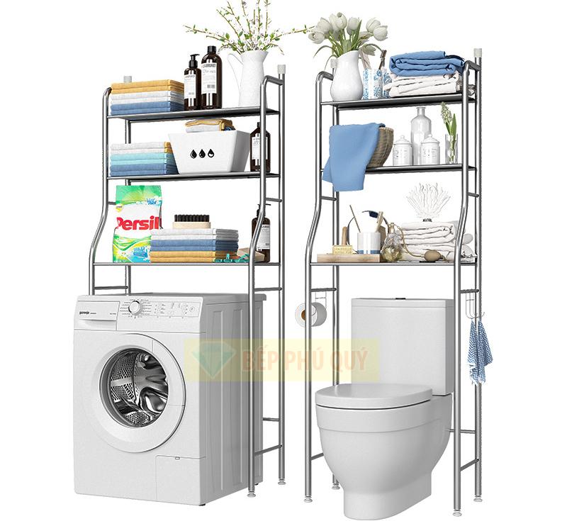kệ để đồ trên máy giặt inox 304 2 tầng