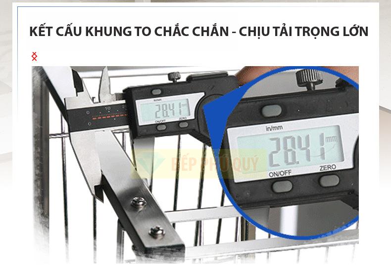 kệ đựng gia vị inox 304 để bàn kết cấu khung inox to khỏe