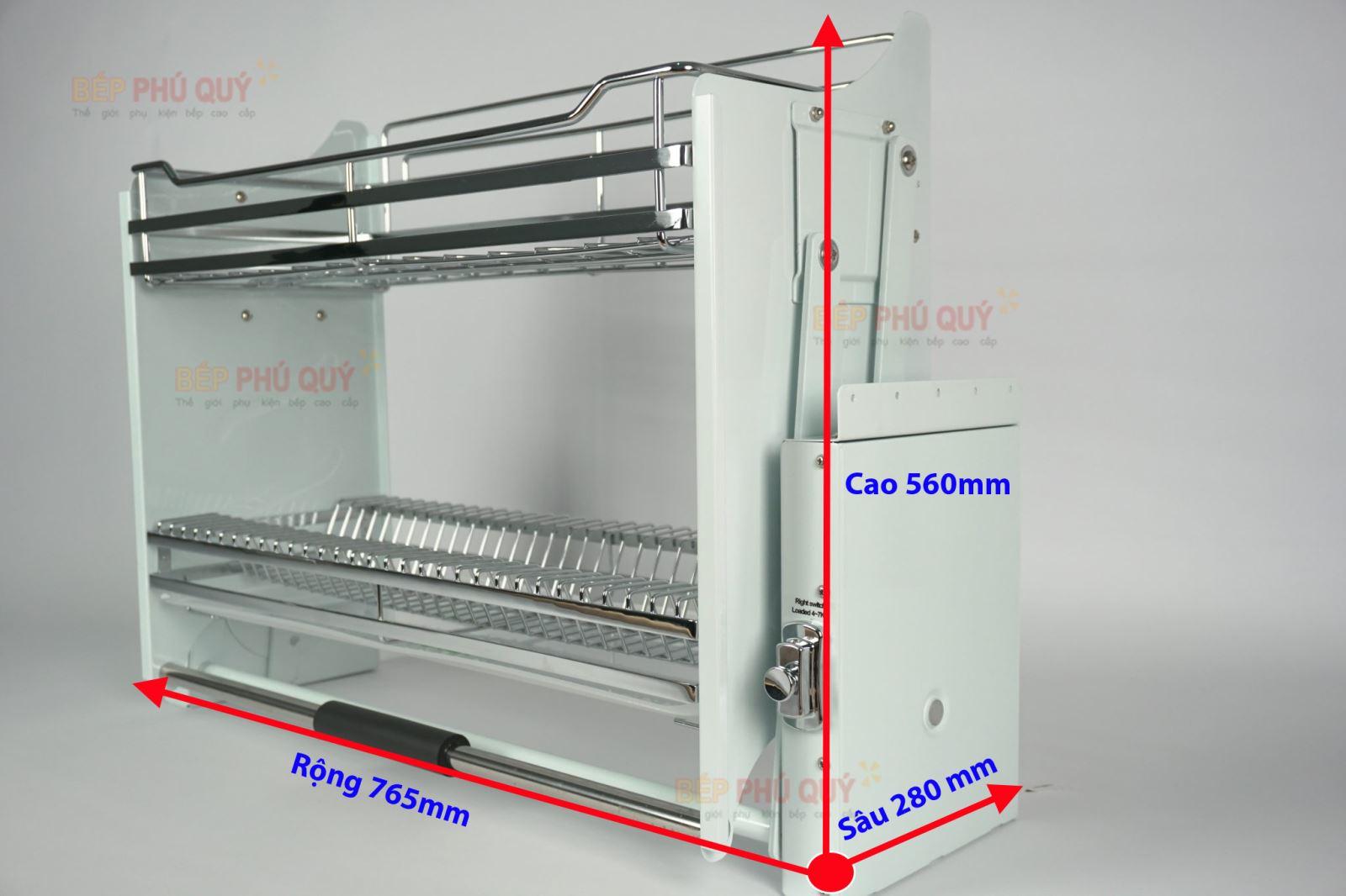 thông số kích thước sản phẩm giá bát nâng hạ luxury lx 1180