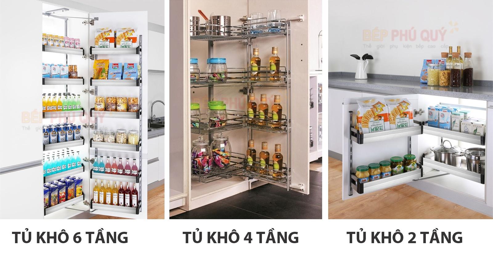 phân loại tủ đồ khô 2 tầng 4 tầng và 6 tầng