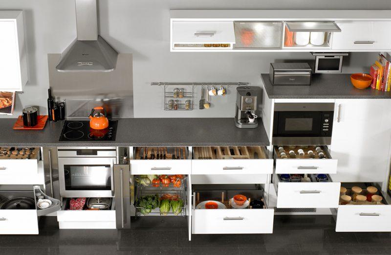 phụ kiện tủ bếp thông minh inox 304