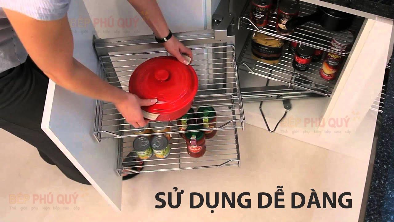 giá góc liên hoàn tủ bếp luxury dễ dàng sử dụng