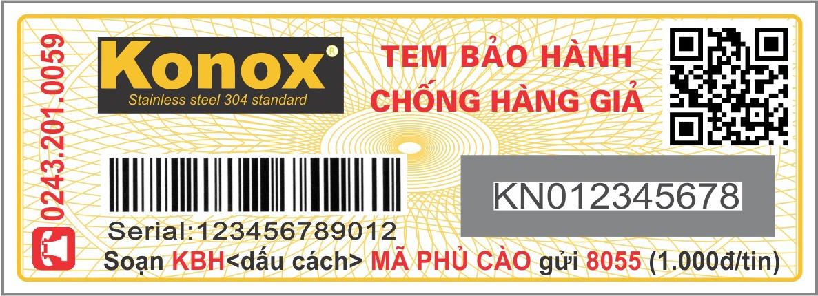 tem chính hãng chậu rửa bát Konox