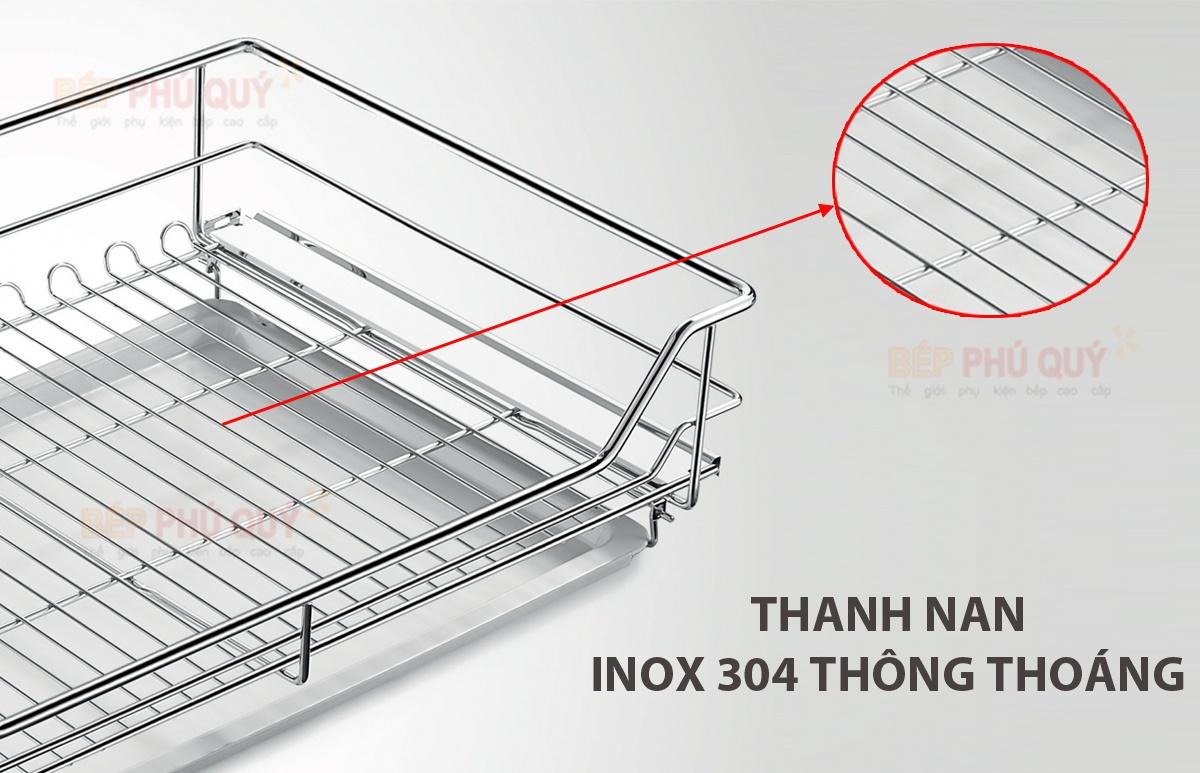 thanh nan thiết kế tinh xảo thanh thoát - giá để xoong nồi inox 304 nan tròn luxury