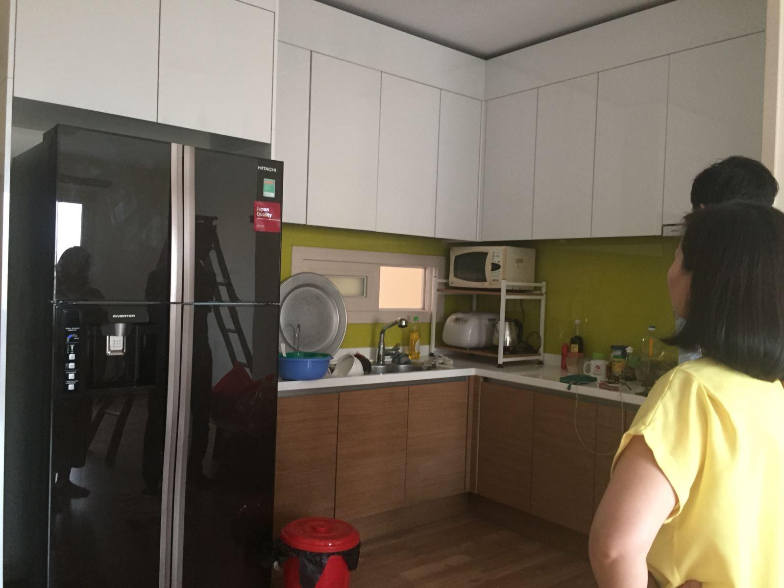 Tủ bếp khá cao tại dự án căn hộ Boyoong mỗ lao hà đông