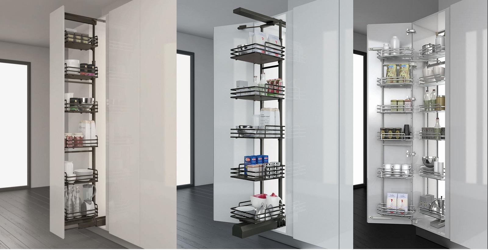 tủ đồ khô cao cấp luxury cánh mở cánh kéo 4 tầng và 6 tầng