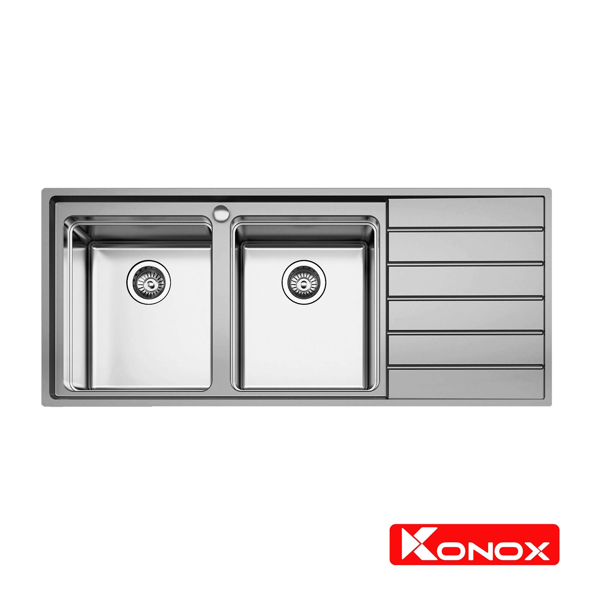 Chậu rửa Konox có bàn chờ - Premium KS11650 2B