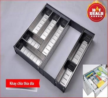 Khay chia thìa dĩa Inox 304 EU.500B cao cấp Edel