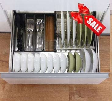 Ngăn kéo bát đĩa inox hộp Luxury cao cấp LH02.700